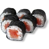 Маки с копченым лососем